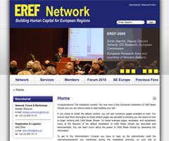 European Regional Economic Forum website